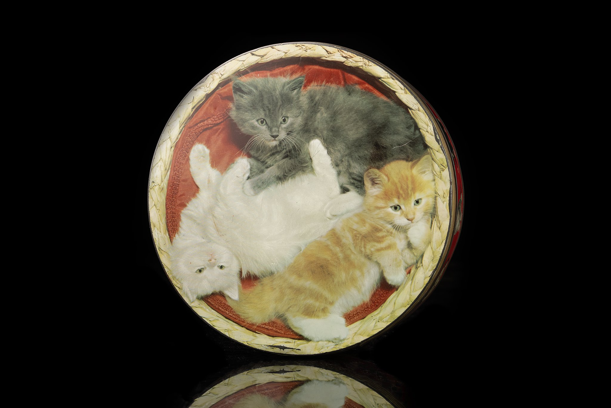 Vintage-tin-cat-box-3-cats